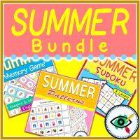 Summer - Logical Thinking Activities - Bundle