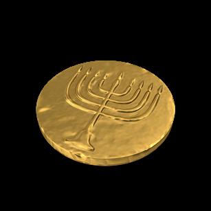 Hanukkah Gelt Coin Covered   Planerium