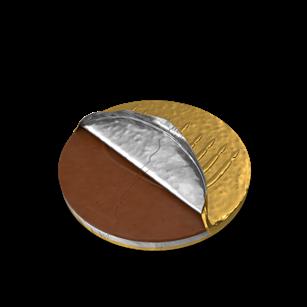 Hanukkah Gelt Coin Half Covered   Planerium