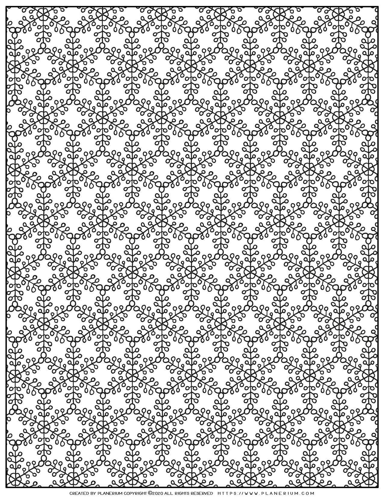 Christmas Coloring Pages - Snowflakes Pattern   Planerium
