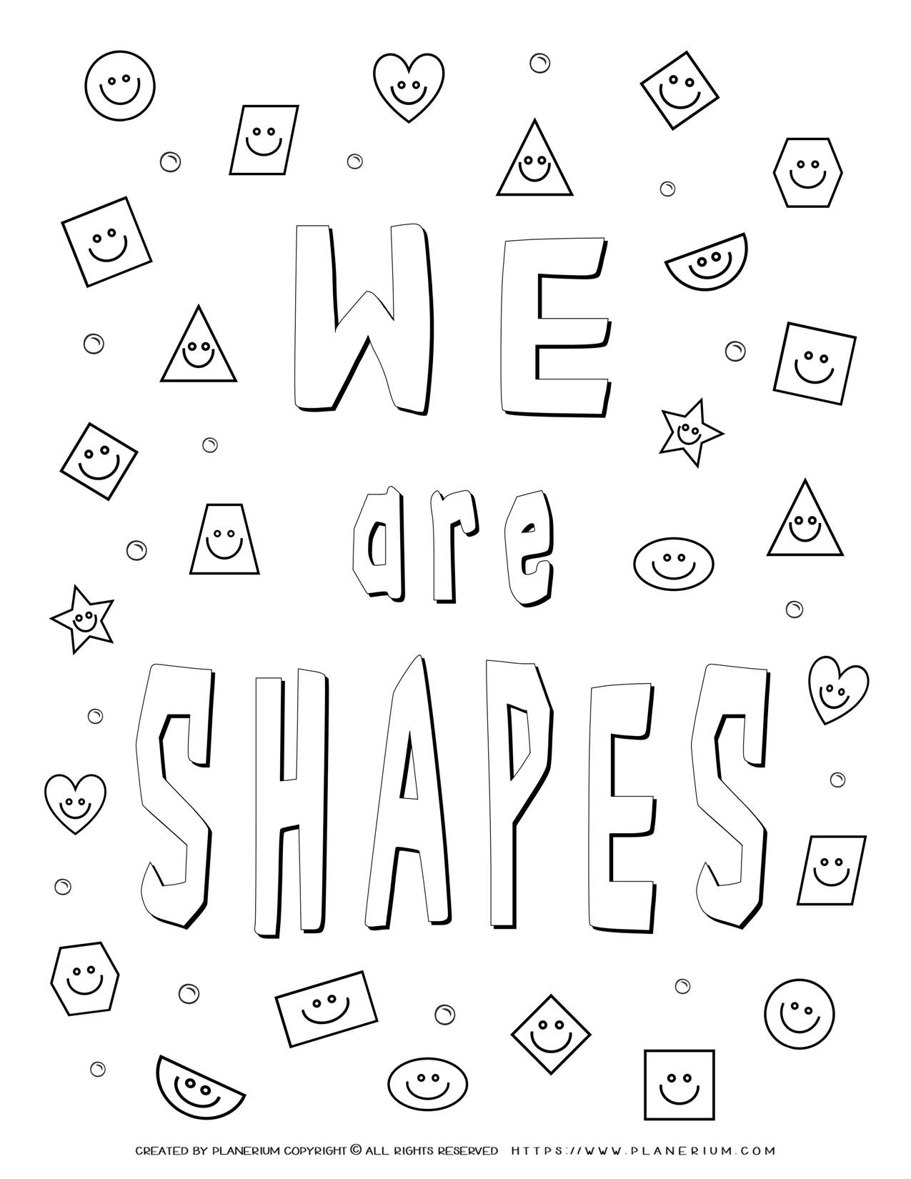 Shapes Coloring Pages - We Are Shapes   Planerium
