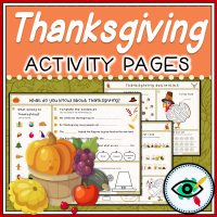 Thanksgiving - Printable Activity Pages - Featured Main | Planerium